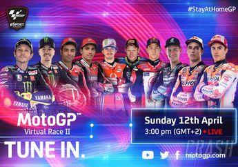 Link Live Streaming Virtual Race Seri II MotoGP, Duel Panas Valentino Rossi Vs Marquez Bersaudara