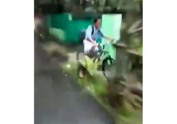 Viral! Pengendara Motor Tendang Pelajar Naik Sepeda Sampai Masuk Selokan, Keluarga Korban Kecam Pelaku
