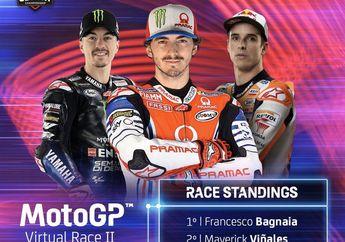 Gokil! Prakiraan Murid Valentino Rossi di MotoGP Virtual Race Kedua Jitu Abis, Berhasil Jadi Juara