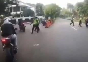 Langsung Bubar, Petugas Kesal Lagi Razia PSBB Malah Digocek Klub Motor yang Asik Sunmori, Polisi: Semua Suruh Balik Lagi!