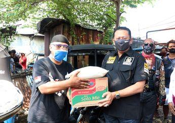 Klub Motor Besar Indonesia Bersama Ketua MPR RI Meringankan Beban Supir Bajaj Jakarta , Salurkan 1 Ton Beras  Dan Sembako Saat Pandemi Virus Corona