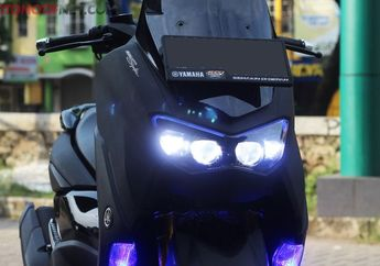 Jadi Lebih Pede Saat Riding Malam, Yamaha All New NMAX Pasang Lampu Toyota Vellfire, Segini Biayanya
