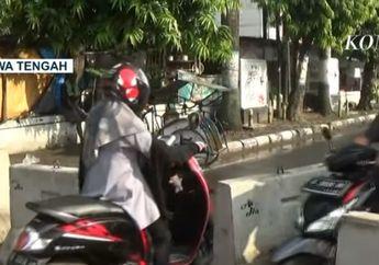 Masih Bandel! Bukannya Patuh Aturan PSBB, Warga dan Pemotor Ini Jebol Beton Pembatas Jalan Saat PSBB Kota Tegal Jawa Tengah
