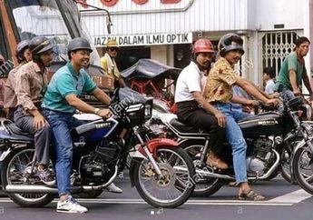 Nostalgia Zaman Baheula, Begini Kondisi Jalanan Tahun 1980-an, Gak Tahan Lihat Motor-Motornya