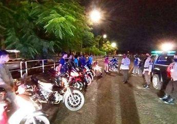 Mengganggu Warga Yang Sedang Beristirahat Menunggu Sahur, 9 Motor Pelaku Balap Liar Diangkut Polisi