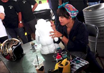 Ngabuburit Saat Pandemi Virus Corona, Bikin Tools Jadi Cantik Ala Irvine Jasta Custom Painter Asal Bandung