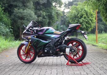 Modifikasi Suzuki GSX-R150 Langganan Juara, Pakai Motif Helm Superbike