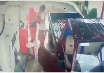 Biadab! Lebam dan Kesakitan Kepala Wanita Petugas SPBU Dipukul Pengendara Mobil yang Menyerobot Jalur Motor