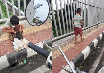 Bikin Haru, Anak Kecil Jualan Takjil Demi Bantu Keluarga, Netizen Mau Nangis
