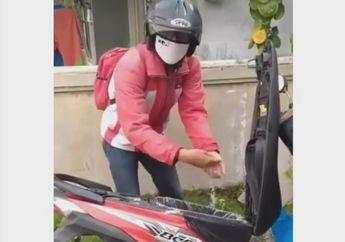 Kocak! Enggak Mau Kalah Sama NMAX dan Vespa, Pemilik Honda BeAT Ikut Kampanyekan Cuci Tangan