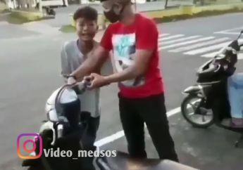 Kocak, Awalnya Sok Jagoan di Jalanan, Terciduk Balap Liar Bocah Ini Malah Menangis Ketakutan