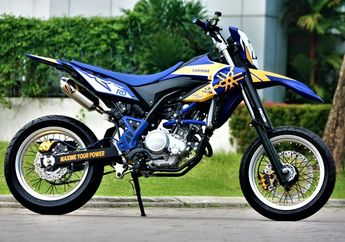 Yamaha WR 155R Tampil Full Fashion Bergaya Supermoto Berhias Part RCB