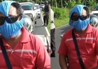 Polisi Sampai Ngakak, Video Pemotor Menggunakan Celana Dalam Yang Dijadikan Sebagai Pengganti Masker