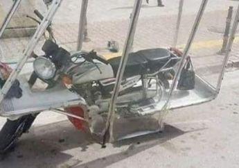 Keren Banget! Motor Ini Dimodifikasi Jadi Tahan Panas dan Hujan Badai