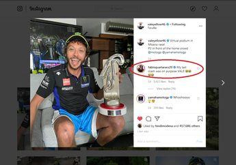 Apa Maksudnya Nih! Fabio Quartararo Sebut Sengaja Kasih Jalan Valentino Rossi Gasak Podium MotoGP Virtual Race IV