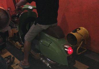 Wuih, Vespa Milik Artis Andre Taulany Siap Dioprek Full Pakai Part Polini dan Malossi Oleh Scooter VIP