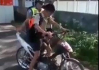 Tadinya Kaya Dilan, Bonceng Pacar Ngebut Pakai Motor, Pas Ditilang Malah Nangis Menjerit-jerit