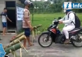 Viral! Pemudik Ketakutan Pilih Pulang Lagi, Setelah Kampungnya di Lockdown Petasan Bambu