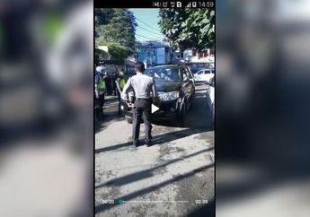 Bandung Geger, Oknum Polisi Ngamuk Saat Ditegur Gak Pakai Masker, Pemotor Pada Nontonin