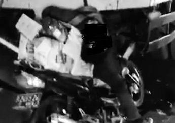 Braakkk... Pengendara Motor Gegar Otak Bersimbah Darah, Korban Tergeletak Lemah di Belakang Truk Parkir