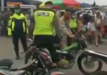 Sekali Dayung Dua Tiga Pulau Terlampau Nih, Polisi Razia Masker di Tawangrangu, Puluhan Motor Knalpot Brong Ikut Diamankan