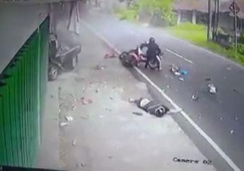 Merinding Detik-detik Mobil Pikap Oleng Hantam Motor Matic, Korban Patah Kaki dan Tangan Warga Berhamburan ke Jalan Raya