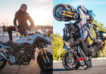 Video Cewek Seksi Freestyle Naik Yamaha Niken, Motor Tiga Roda Bisa Terbang