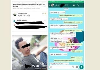 Driver Ojol Sange Lihat Customer Bercelana Pendek Baju Tank Top Berlanjut Chatting Mesum Mau Booking