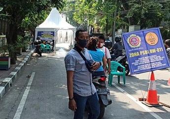 Waduh, 5 Hari Berjalan Masih Ada Pengendara yang Gak Pakai Masker Pada Penerapan PSBL di RW 11 Pademangan Barat