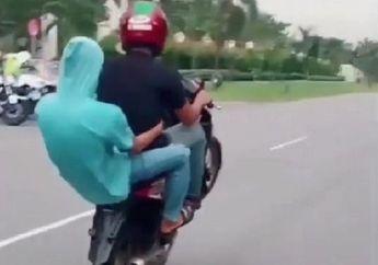 Sok Jagoan, Nekat Pamer Wheelie di Depan Polantas Nasib Pemotor Jadi Begini, Dengkul Langsung Gemetar