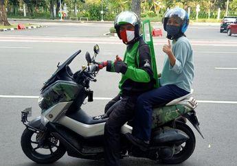 Penumpang Tidak Wajib Bawa Helm Sendiri Saat Naik Ojek Online di DimasaPSBB tahap ke-6 di Kota Tangerang