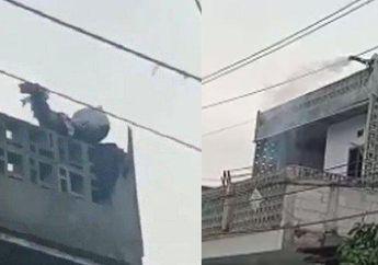 Cibitung Geger, Jalanan Macet Warga Menyaksikan ABG Main TikTok Kesetrum Listrik dan Sampai Terbakar