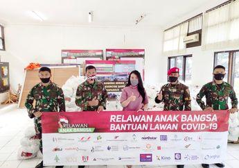 Mantap, Bantu Korban Pandemi Covid-19, Relawan Anak Bangsa Bagikan Puluhan Ribu Paket Sembako