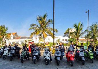 Mantap, Komunitas Motor General Team Vespa Society (GTVS) Indonesia Gelar Silaturahmi di Masa Transisi PSBB