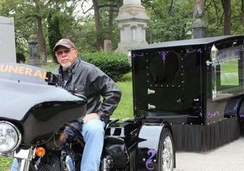 Modifikasi Harley-Davidson Jadi Kereta Jenazah, Begini Penampakannya