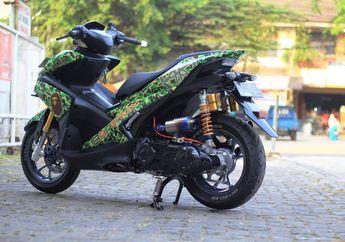 Hypebeast Pasti Melirik, Modifikasi Yamaha Aerox 155 Pakai Livery Bape