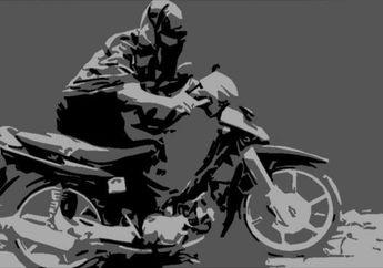 Buntung Banget, Niat Jual Helm Doang, Malah Honda BeAT Digondol Maling