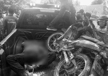Geger Penemuan Mayat Lelaki Misterius di Parit, Motor Honda Supra X Ringsek Diduga Korban Bukan Orang Baik