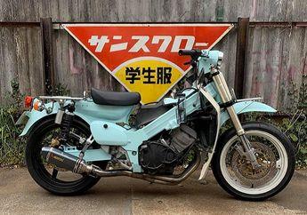 Gokil! Modifikasi Honda Super Cub Cangkok Mesin Leluhur Kawasaki Ninja 250 4 Silinder, Suaranya Buas