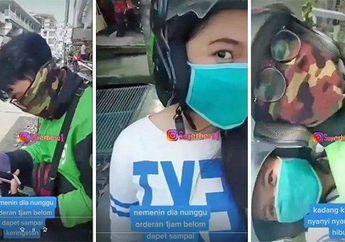 Jomblo Dilarang Baper, Viral Video Selebgram Cantik Rela Temani Pacarnya Seorang Driver Ojol Panas-panasan Cari Orderan