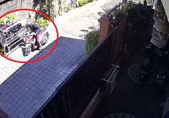 Viral, Video Detik-detik Pemotor di Bali Curi Celana Dalam di Jemuran, Netizen: Mungkin Buat Bekal Ngocok