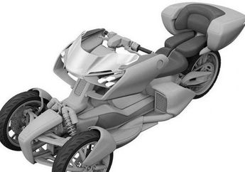 Mirip Kendaraan Superhero, Yamaha Siapkan Motor Hybrid Roda Tiga