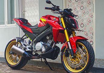 Sangar, Modifikasi Yamaha V-ixion Ala KTM Duke, Pakai Ban Gambot Jadi Tambah Kekar