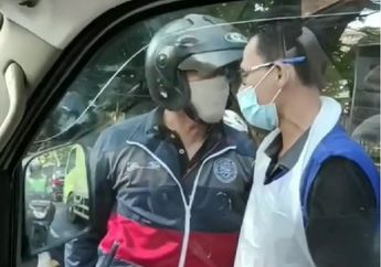 Sok Jagoan, Pemotor Ngamuk dan Ajak Ribut Sopir Ambulans yang Bawa Pasien Kritis, Motor Dipalang di Tengah Jalan