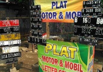 Pelat Nomor Motor Hilang atau Rusak Jangan Bikin di Pinggir Jalan, Biaya Resmi Cuma Rp 100 Ribuan