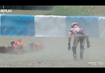 Kecelakaan Saat FP2 MotoGP Spanyol, Alex Marquez Malah Diselamatkan Yamaha NMAX