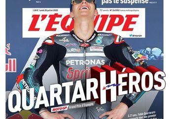 Keren, Fabio Quartararo Juara MotoGP Spanyol 2020, Dinobatkan Pahlawan