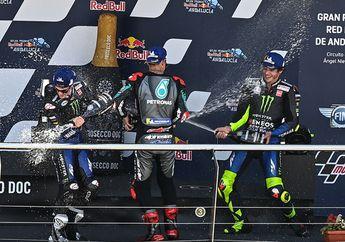 Selebrasi Rossi Podium di MotoGP Andalusia 2020, Plek di Tempat Sama