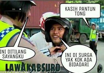 7 Cara Kocak Pemotor Hindari Razia Polisi Saat Operasi Patuh Jaya 2020, Dijamin Gak Ditilang Bro