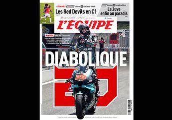 Fabio Quartararo Menang MotoGP Andalusia 2020, Jadi Sampul Depan Lagi